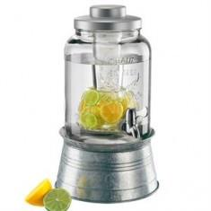 Mason Jar Beverage Server with Tin Base Image