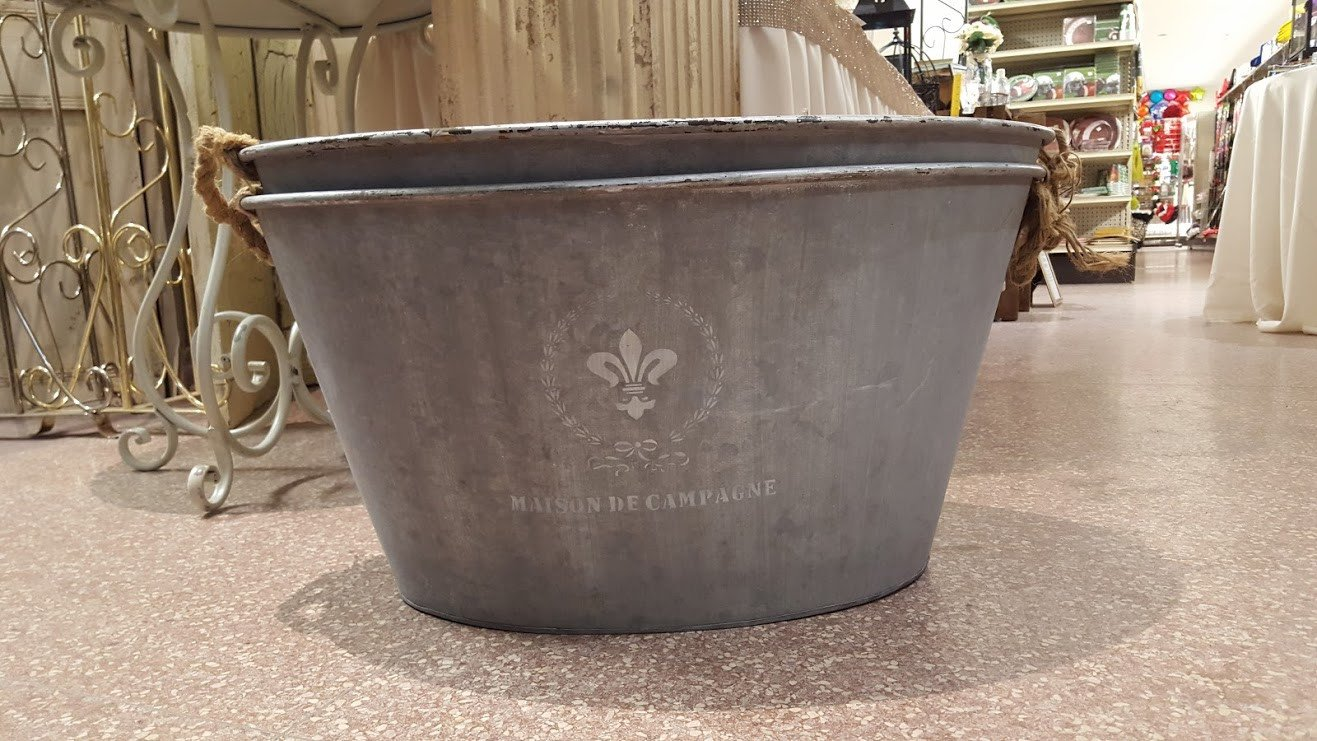 Galvanized Oval Tubs Image