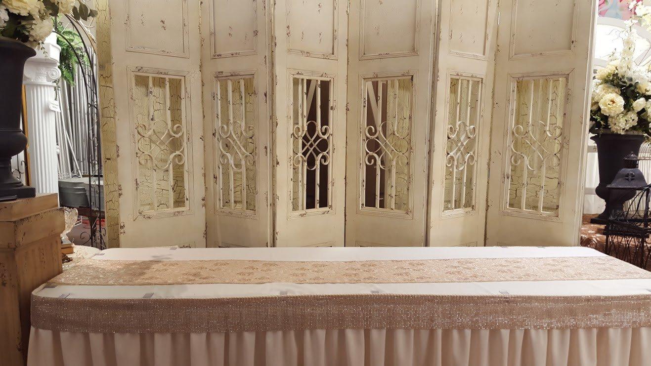 Vintage Iron Ivory Backdrop Image