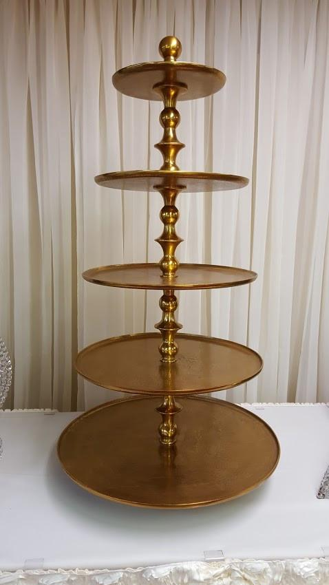 Gold 5-tier Cupcake Stand Image