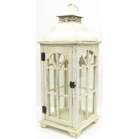White Wooden Lantern Image