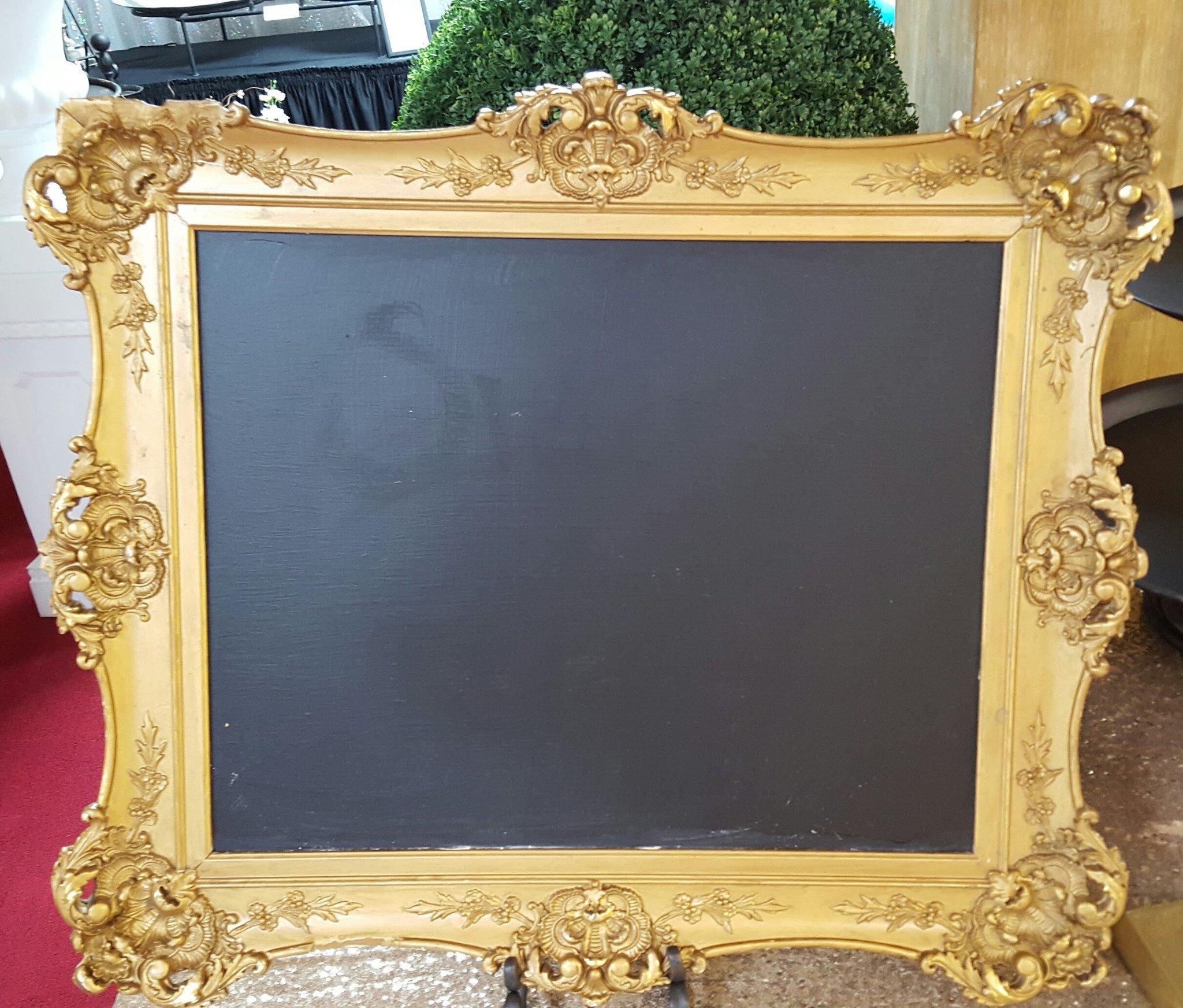 Small Gold Chalkboard Image