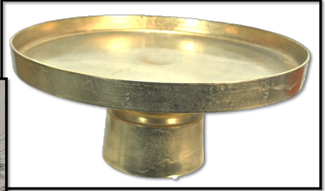 Gold Cake Stand on Pedastal Image
