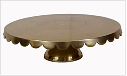 NEW! Gold Scalloped Cake Stand Image