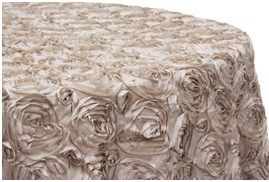 Satin Rosette Table Covers Image