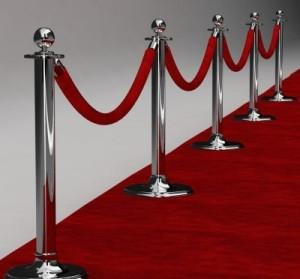 Red Carpet and Stanchions Image