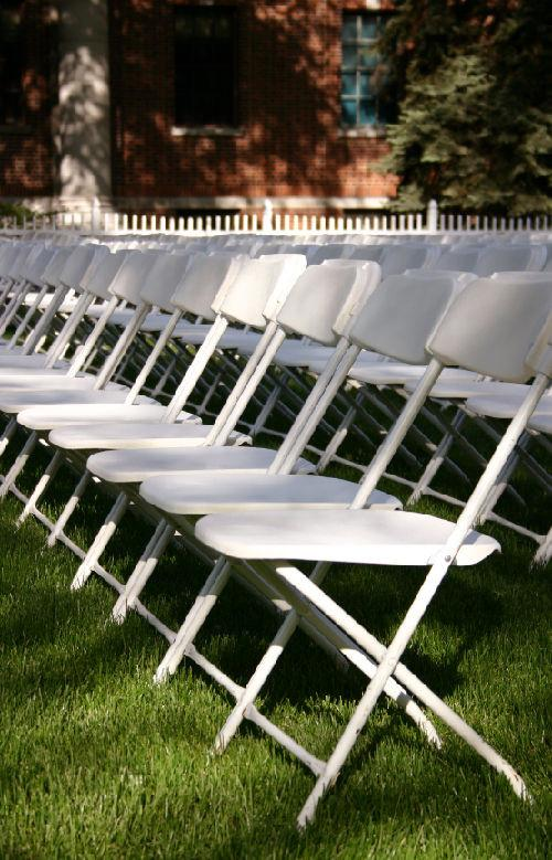 White Folding Chairs Image