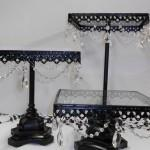Black Jeweled Cake or Cupcake Stands Image