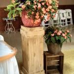 Vintage Wooden Pillars Image