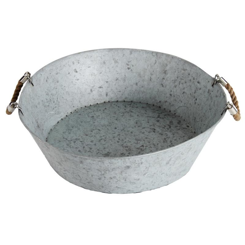 Galvanized Tub with Handles Image