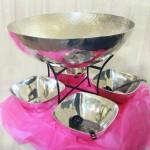 Hammered Punch Bowl Image