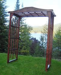 Brown Wooden Arbor Image