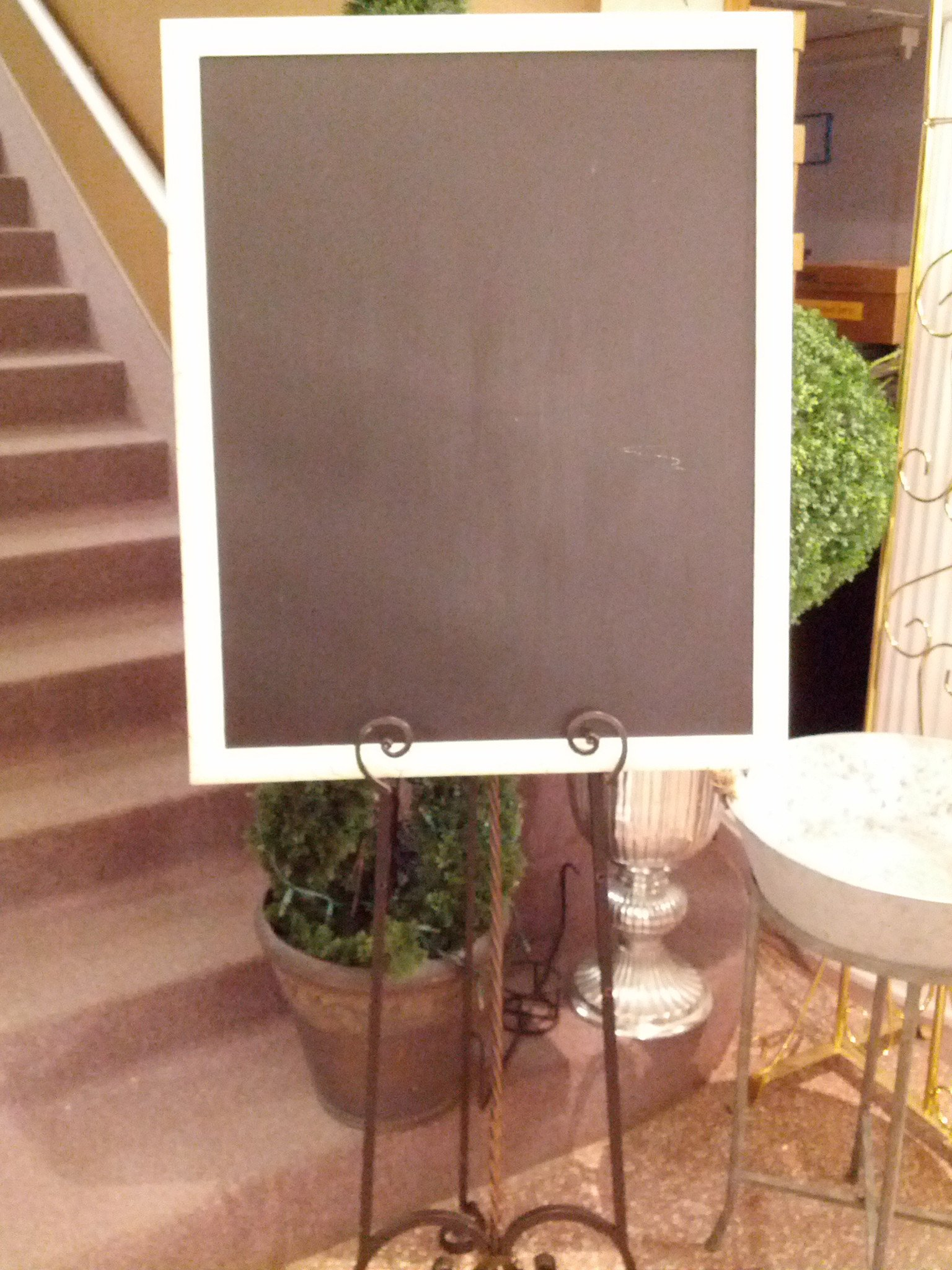 Large Ivory Crackle Chalkboard Image