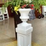 White Pillar & White Urn Image