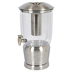 Silver & Clear Drink Dispenser Image