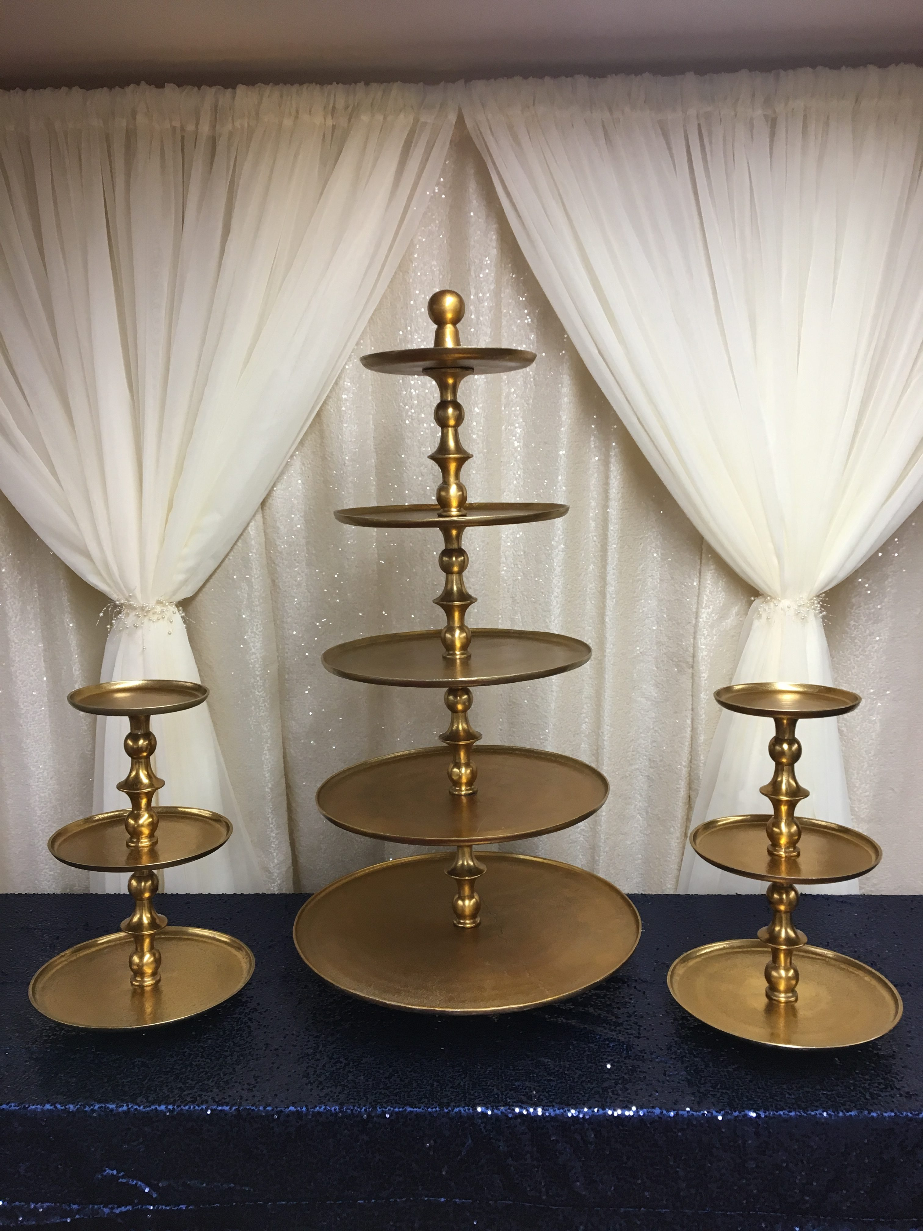 Gold 5-tier and 3-tier Cupcake Stands Image
