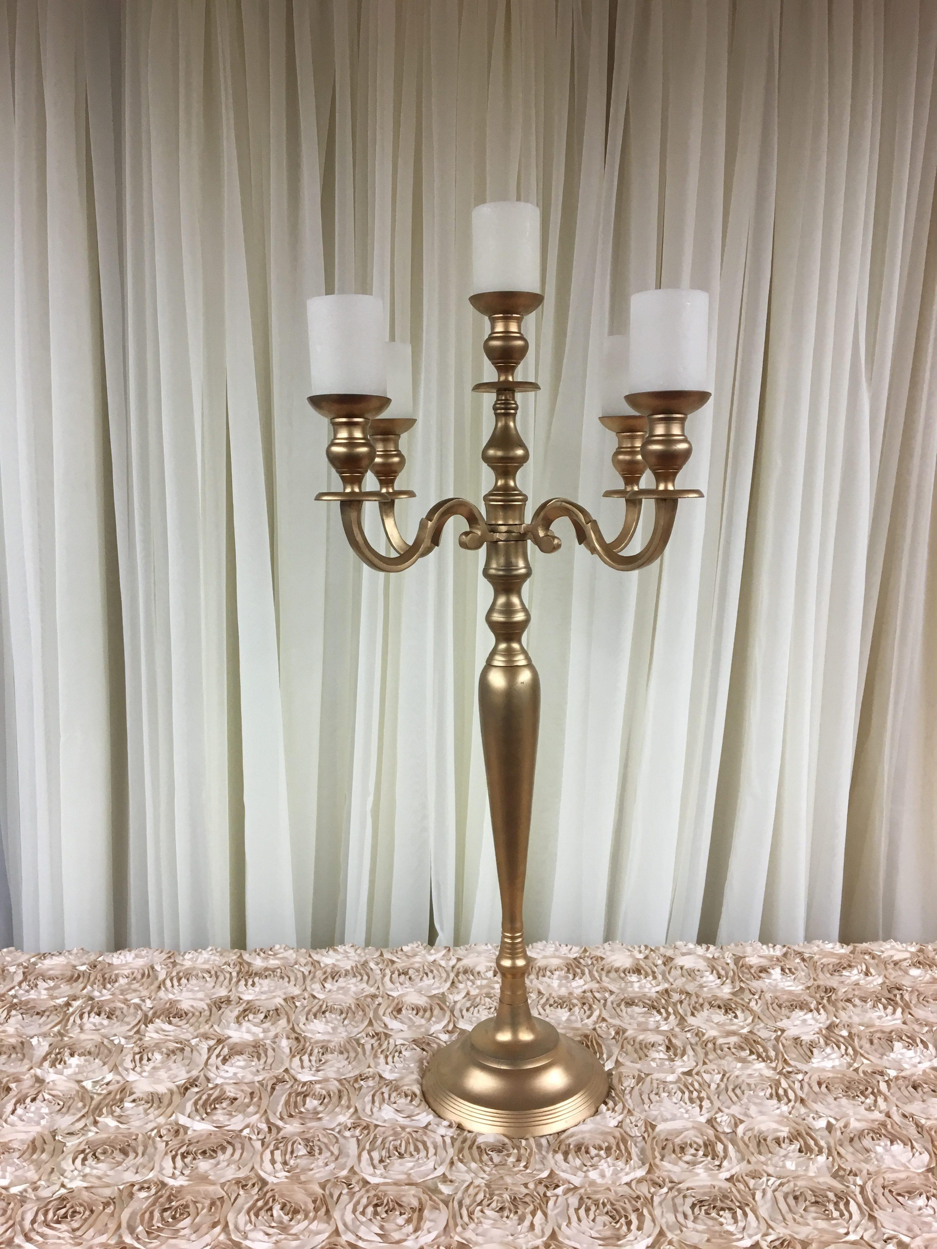 Gold Tabletop Candelabra Image
