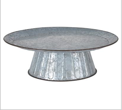 Galvanized Round Cake Stand Image