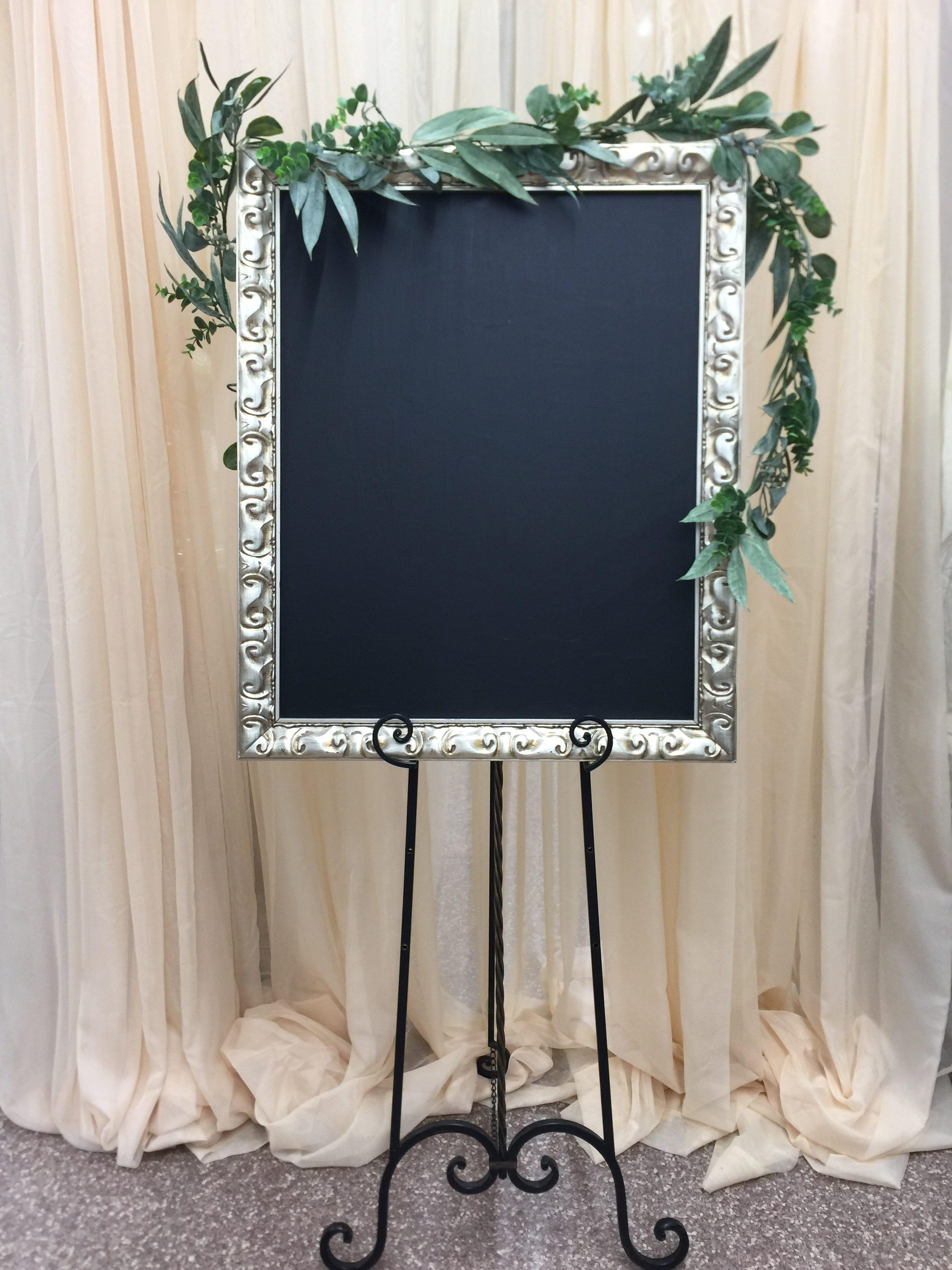 Large Champagne Chalkboard Image