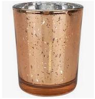Rose Gold Murcury Glass Votive Image