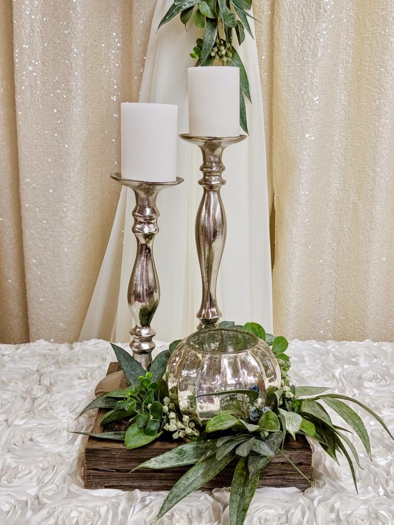 Round Silver Mercury Vase Image
