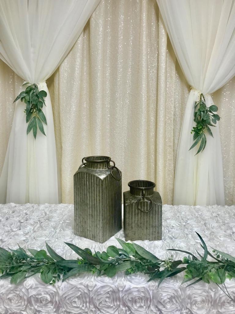 Galvanized Tin Vase Short/Tall Image