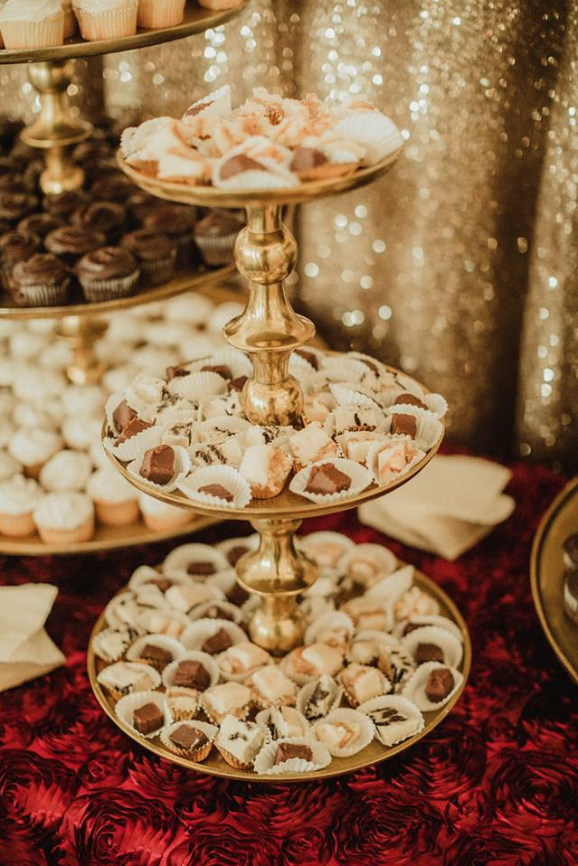 Gold 3-Tier Cupcake Stand Image
