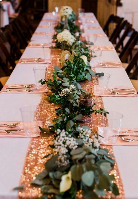 Sequin Table Runners Image