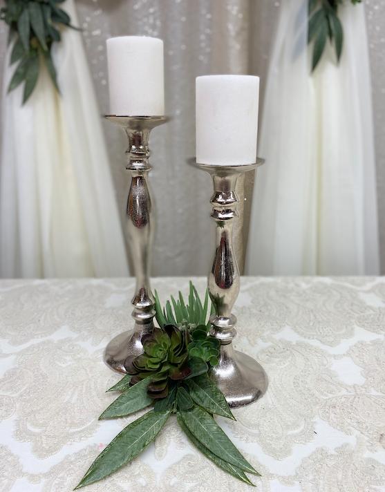 Silver Candlesticks Image