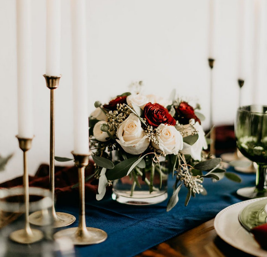 Gold Taper Candle Holders Image