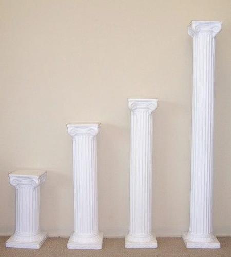 White Grecian Pillars Image